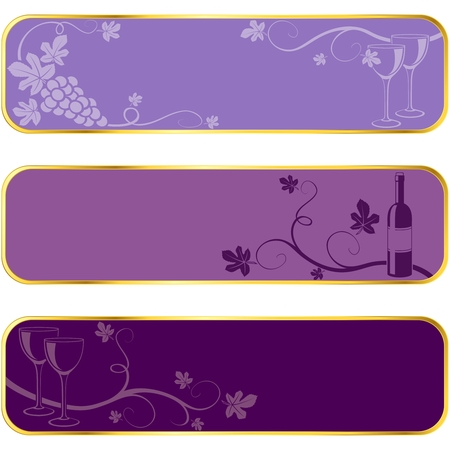rim: Three seasonal banners of , with gold rim. Graphics are grouped and in several layers for easy editing. The file can be scaled to any size
