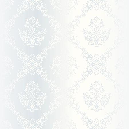 elegante witte naadloze patroon, prefect voor bruiloft ontwerpen. De tegels kunnen worden gecombineerd naadloos. Graphics zijn gegroepeerd en in verschillende lagen voor eenvoudige bewerking. Het bestand kan worden geschaald naar elke grootte. Stock Illustratie