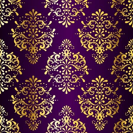 damast: stilvolle Vektor Hintergrund mit einem metallischen Damast-Muster inspiriert von indischen Stoffen. Die Fliesen k�nnen problemlos kombiniert werden. Grafiken sind und in mehreren Schichten f�r die einfache Bearbeitung. Die Datei kann zu jeder Gr�sse.