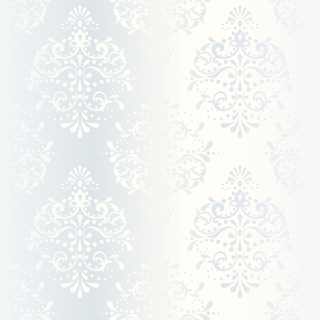 damask seamless: elegant white seamless pattern, prefect for wedding designs. The tiles can be combined seamlessly. Graphics are grouped and in several layers for easy editing. The file can be scaled to any size.