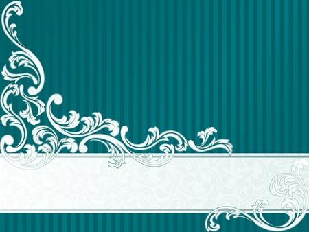 rococo style: Banner elegante dise�o inspirado en el estilo rococ� franc�s. Gr�ficos y se agrupan en varias capas para editar f�cilmente. El archivo puede hacerse a escala en cualquier tama�o. Vectores