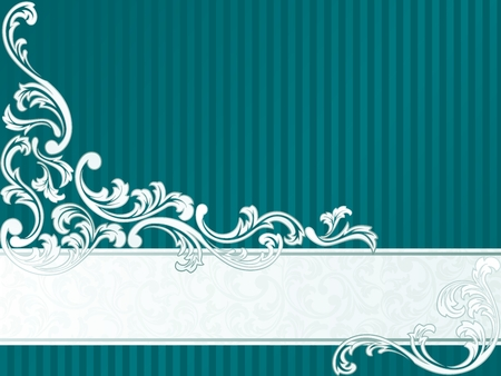 Elegant Banner design inspired by French rococo style. Graphics are grouped and in several layers for easy editing. The file can be scaled to any size. Vector
