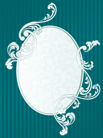 Elegant Frame design inspired by French rococo style. Graphics are grouped and in several layers for easy editing. The file can be scaled to any size. Vector