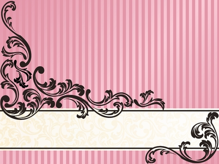 french style: Elegant Banner design inspired by French rococo style. Graphics are grouped and in several layers for easy editing. The file can be scaled to any size.