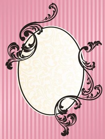 フランスのロココ様式にインスパイアされたエレガントなフレーム デザイン。グラフィックをグループ化および簡単な編集のためのいくつかの層。