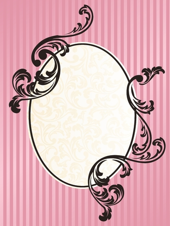 rococo style: Marco de dise�o elegante inspirado en el estilo rococ� franc�s. Gr�ficos y se agrupan en varias capas para editar f�cilmente. El archivo puede hacerse a escala en cualquier tama�o.