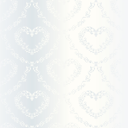 elegant white seamless pattern with hearts, prefect for wedding designs. The tiles can be combined seamlessly. Graphics are grouped and in several layers for easy editing. The file can be scaled to any size.