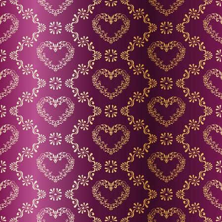 sari: vector background elegante con un patr�n de coraz�n met�lico inspirado por las telas indias. Los azulejos se pueden combinar a la perfecci�n. Gr�ficos y se agrupan en varias capas para editar f�cilmente. El archivo puede hacerse a escala en cualquier tama�o.