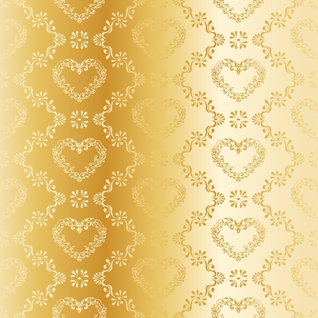 stylish vector background with a golden damask pattern. The tiles can be combined seamlessly. Graphics are grouped and in several layers for easy editing. The file can be scaled to any size.