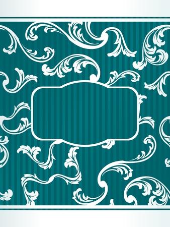 french label: Etiqueta elegante de color turquesa florales inspirados en el dise�o franc�s. Gr�ficos y se agrupan en varias capas para editar f�cilmente. El archivo puede hacerse a escala en cualquier tama�o.