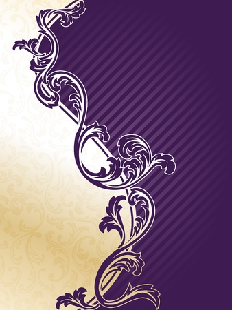 purple swirls: Classy two part background in gold and purple. Graphics are grouped and in several layers for easy editing. The file can be scaled to any size.