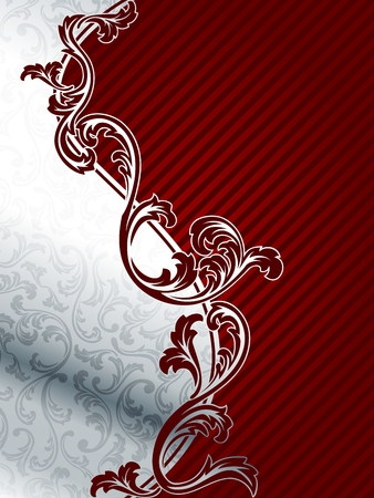 silver frame: Classy two part background in red and silver. Graphics are grouped and in several layers for easy editing. The file can be scaled to any size.