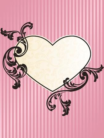 Elegant heart-shaped pink frame design