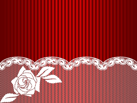 Sexy background with a French lace design.  Vector