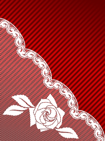 Sexy red and white background with a French lace design. Graphics are grouped and in several layers for easy editing. The file can be scaled to any size. 向量圖像