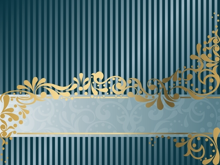 Elegant horizontal banner design inspired by Victorian era designs. Graphics are grouped and in several layers for easy editing. The file can be scaled to any size. Vector