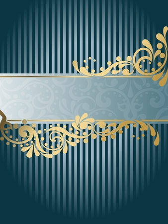 Elegant vertical banner design inspired by Victorian era designs. Graphics are grouped and in several layers for easy editing. The file can be scaled to any size. Stock Vector - 5602191