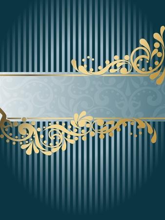 gild: Elegante design banner verticale ispirato dai disegni dell'epoca vittoriana. Grafici sono raggruppati in diversi livelli per facilitare il montaggio. Il file pu� essere scalata a qualsiasi dimensione. Vettoriali
