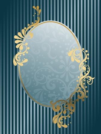 Elegante diseño de marco ovalado inspirado en diseños de la época victoriana. Los gráficos son agrupados y en varias capas para editar fácilmente. El archivo se puede escalar a cualquier tamaño. Foto de archivo - 5602190