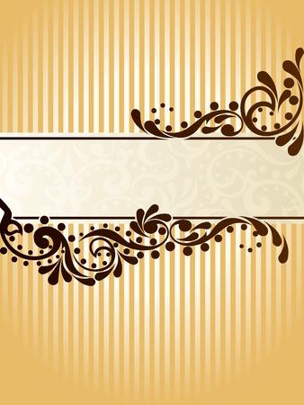 ビクトリア朝時代の設計によって促されるエレガントな垂直バナー デザイン。グラフィックをグループ化および簡単な編集のためのいくつかの層。
