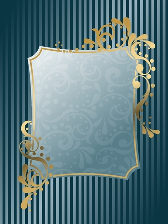 Elegant rectangular frame design inspired by Victorian era designs. Graphics are grouped and in several layers for easy editing. The file can be scaled to any size. Vector