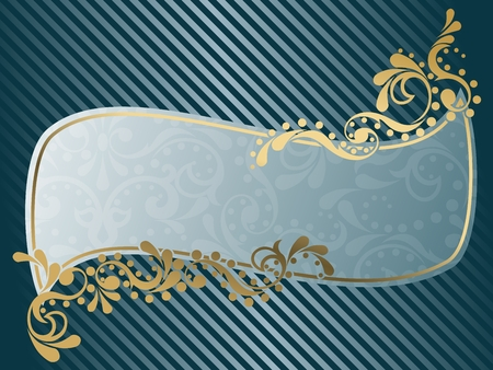 Elegant wavy frame design inspired by Victorian era designs. Graphics are grouped and in several layers for easy editing. The file can be scaled to any size. Vector