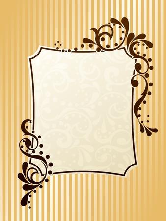 gild: Design elegante cornice rettangolare ispirato dai disegni dell'epoca vittoriana. Grafici sono raggruppati in diversi livelli per facilitare il montaggio. Il file pu� essere scalata a qualsiasi dimensione.