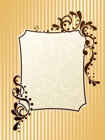 baroque border: Elegant rectangular frame design inspired by Victorian era designs. Graphics are grouped and in several layers for easy editing. The file can be scaled to any size. Illustration