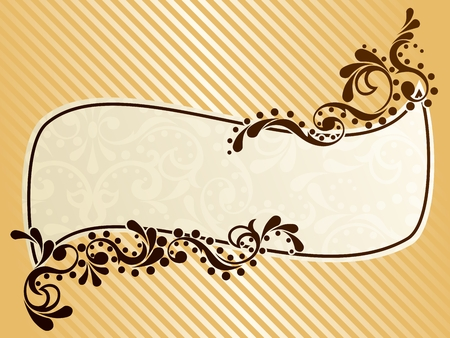 scaled: Elegant wavy frame design inspired by Victorian era designs. Graphics are grouped and in several layers for easy editing. The file can be scaled to any size.