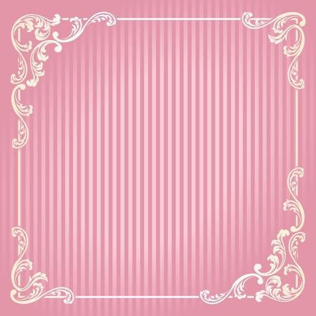 Elegante cornice Swirly ispirato da motivi rococò francese. Grafici sono raggruppati in diversi livelli per facilitare il montaggio. Il file può essere scalata a qualsiasi dimensione. Archivio Fotografico - 5690858