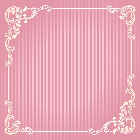Elegant swirly frame inspired by French Rococo designs. Graphics are grouped and in several layers for easy editing. The file can be scaled to any size.