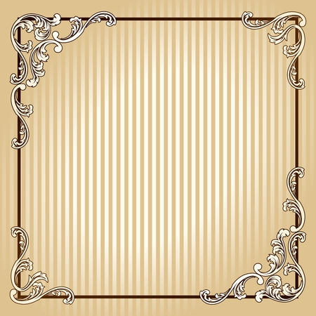 Elegant sepia tone frame inspired by Victorian era designs. Graphics are grouped and in several layers for easy editing. The file can be scaled to any size. Stock Vector - 5690859