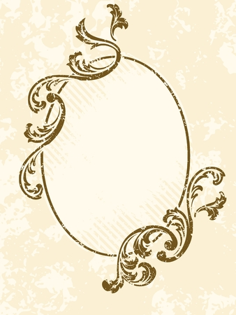 victorian wallpaper: Grungy oval sepia tone frame inspired by Victorian era designs. Graphics are grouped and in several layers for easy editing. The file can be scaled to any size.