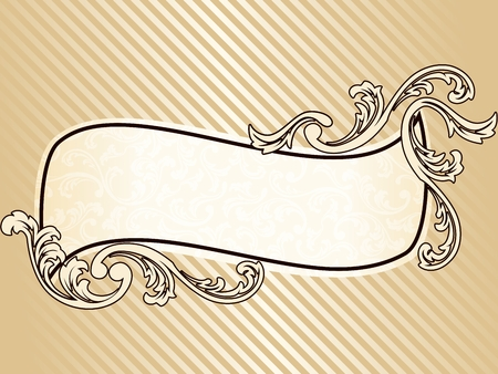 Elegant wavy sepia tone frame inspired by Victorian era designs. Graphics are grouped and in several layers for easy editing. The file can be scaled to any size. Stock Vector - 5769548