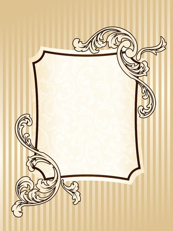Elegant rectangular epia tone frame inspired by Victorian era designs. Graphics are grouped and in several layers for easy editing. The file can be scaled to any size. Vector