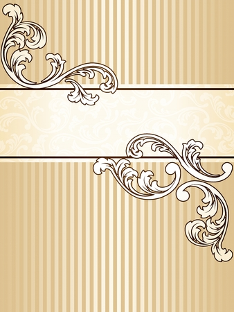 Elegant vertical sepia tone banner inspired by Victorian era designs. Graphics are grouped and in several layers for easy editing. The file can be scaled to any size.