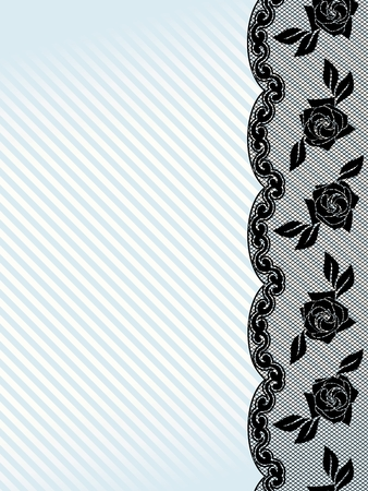 Vertical sexy background with a black French lace design. Graphics are grouped and in several layers for easy editing. The file can be scaled to any size. Vector