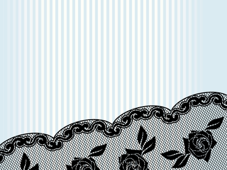 Horizontal sexy background with a black French lace design. Graphics are grouped and in several layers for easy editing. The file can be scaled to any size. Vector