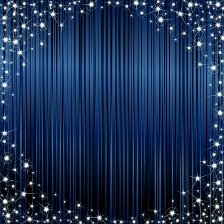 Glossy dark blue background with a sparkly frame. Graphics are grouped and in several layers for easy editing. The file can be scaled to any size.
