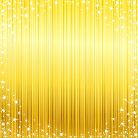 champagne celebration: Glossy bright yellow background with a sparkly frame. Graphics are grouped and in several layers for easy editing. The file can be scaled to any size.