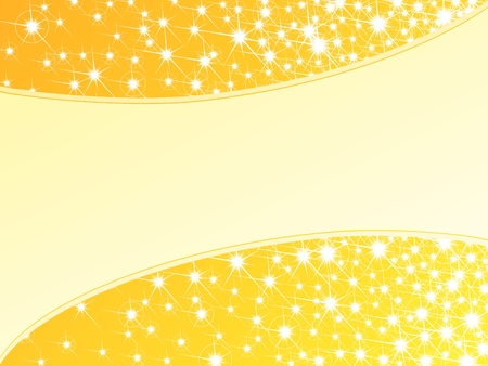 scaled: Glossy bright yellow background with a sparkly frame. Graphics are grouped and in several layers for easy editing. The file can be scaled to any size.