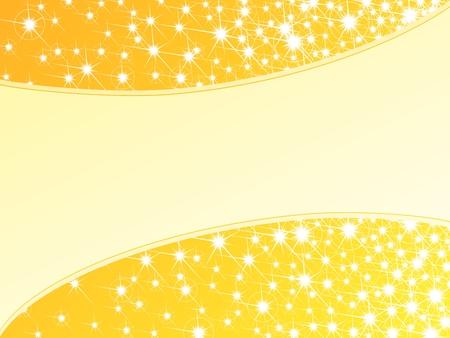 Sfondo giallo lucido brillante con una cornice luccicanti. Grafica è raggruppati in diversi strati di facile montaggio. Il file può essere scalato di qualsiasi dimensione. Archivio Fotografico - 6039329