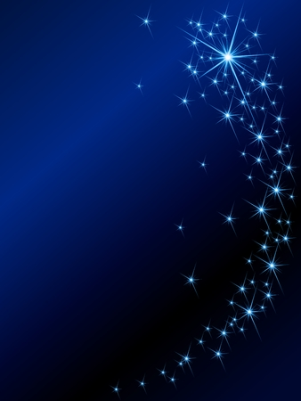 stars: Background with  magical glittering lights. Graphics are grouped and in several layers for easy editing. The file can be scaled to any size.