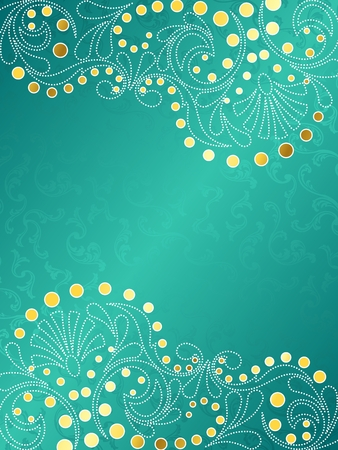 Vertical stylish vector background with a white and gold filigree. Graphics are grouped and in several layers for easy editing. The file can be scaled to any size.