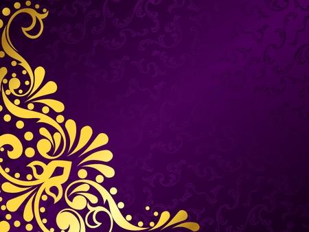 purple silk: Fondo de vector con estilo horizontal con un patr�n victoriano met�lico. Se agrupan los gr�ficos y en varias capas para facilitar la edici�n. El archivo se puede escalar a cualquier tama�o.