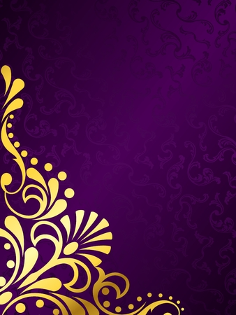 purple silk: Fondo de vector con estilo vertical con un patr�n victoriano met�lico. Se agrupan los gr�ficos y en varias capas para facilitar la edici�n. El archivo se puede escalar a cualquier tama�o.