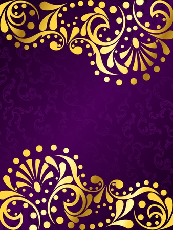 Vertical stylish vector background with a metallic victorian pattern. Graphics are grouped and in several layers for easy editing. The file can be scaled to any size.