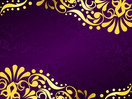 victorian wallpaper: Horizontal stylish vector background with a metallic victorian pattern. Graphics are grouped and in several layers for easy editing. The file can be scaled to any size.