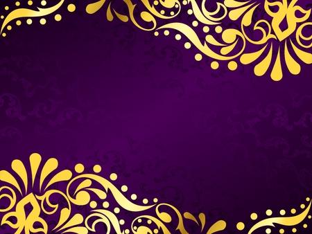 porpora: Vettore elegante orizzontale sfondo con un modello Vittoriano metallico. Grafica � raggruppati in diversi strati di facile montaggio. Il file pu� essere scalato di qualsiasi dimensione.