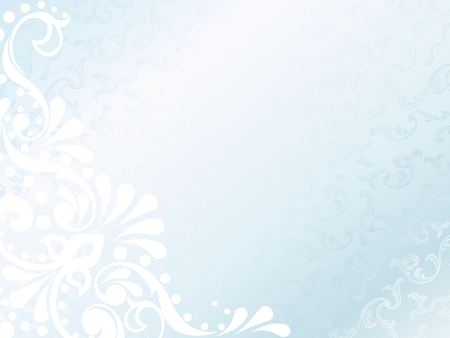 Horizontal elegant white Victorian background, prefect for wedding designs. Graphics are grouped and in several layers for easy editing. The file can be scaled to any size.